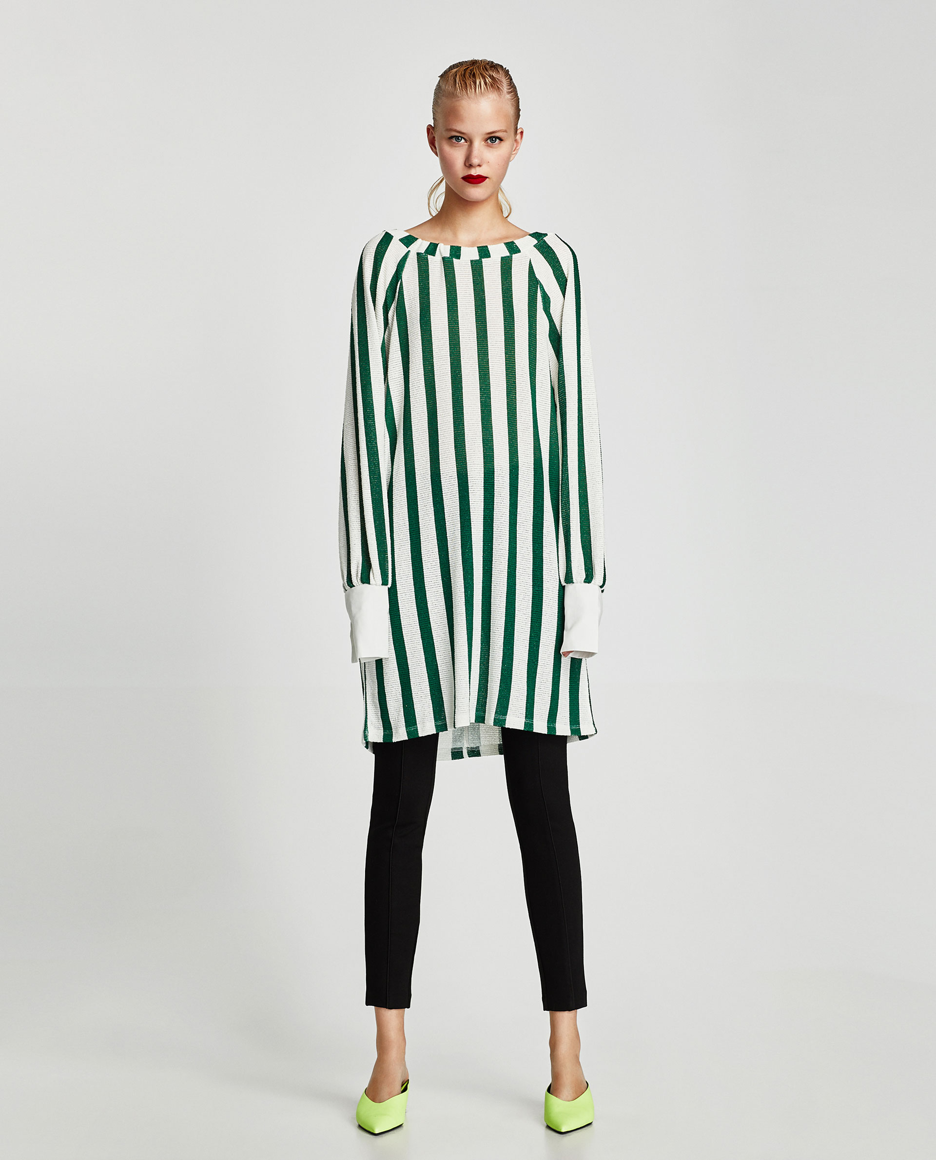 Sayuri Villalba – Zara TRAFALUC Green Stripes 1