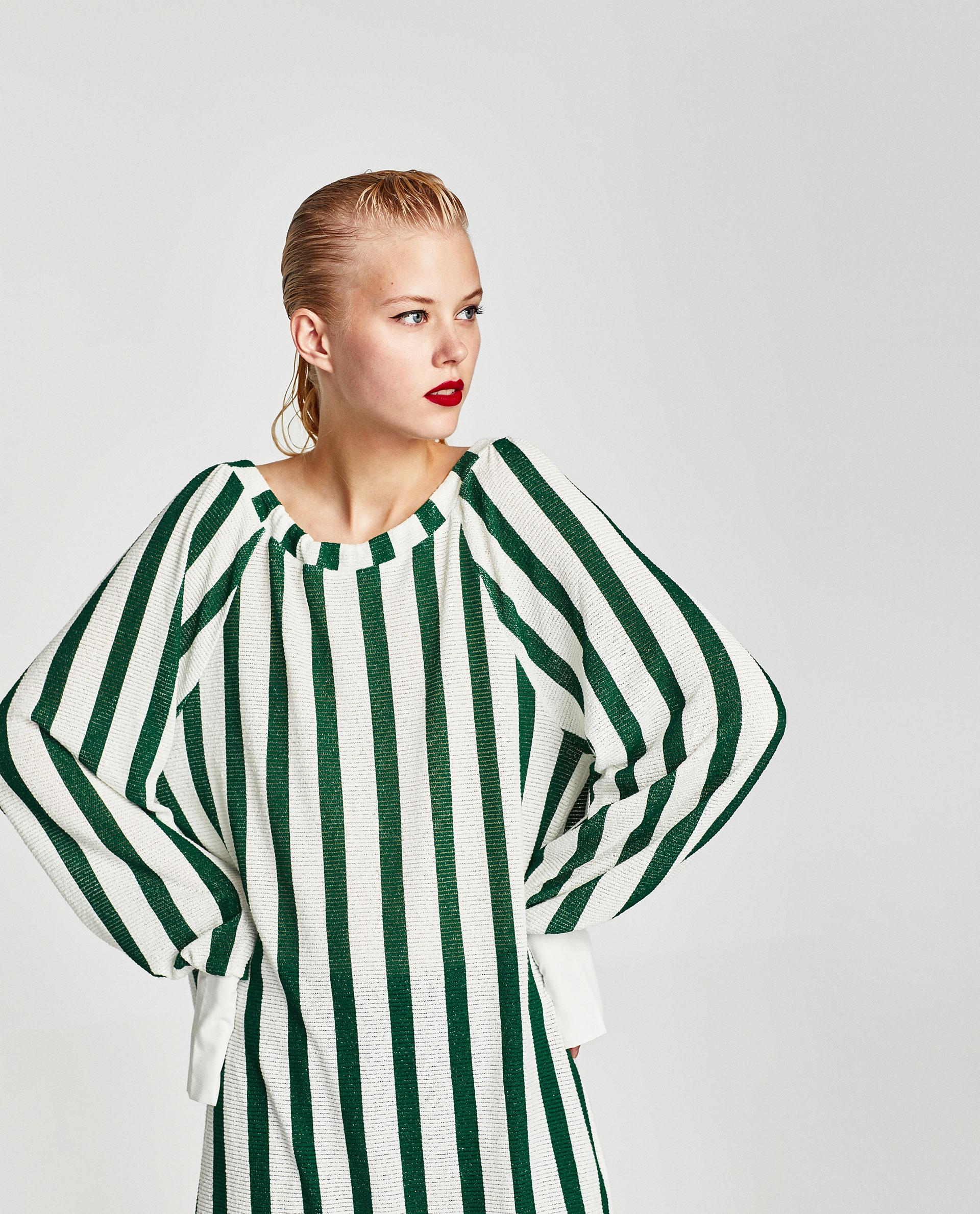 Sayuri Villalba – Zara TRAFALUC Green Stripes 2
