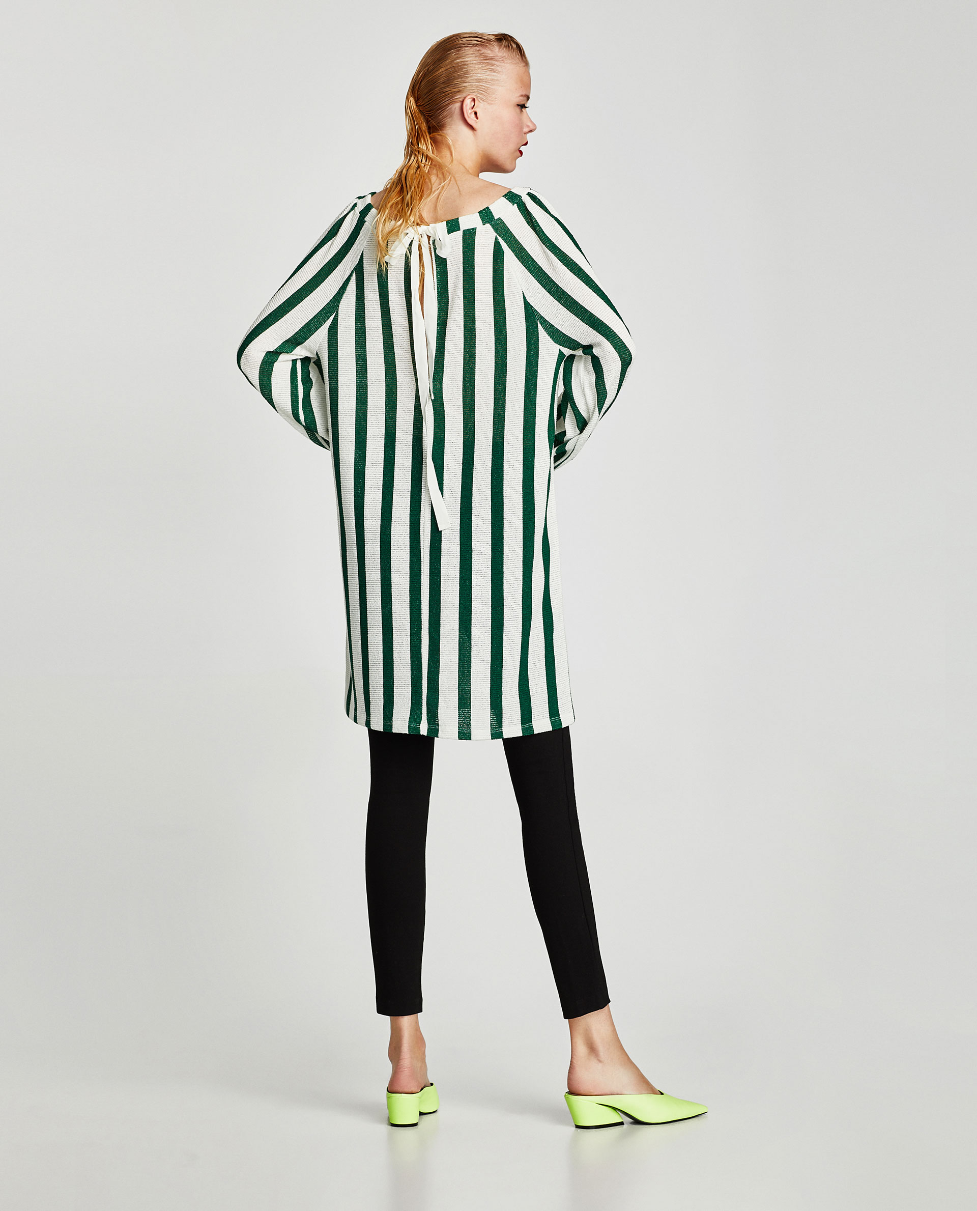 Sayuri Villalba – Zara TRAFALUC Green Stripes 5